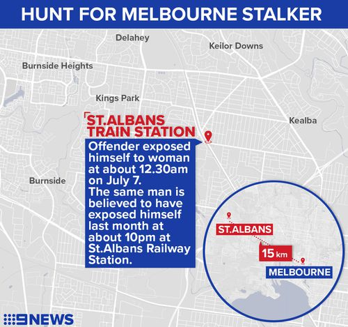 The offender targeted women in two separate incidents. Picture: 9NEWS
