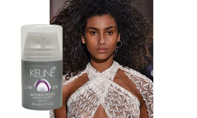 "Backstage at Sophie Theallet, <a href=""http://www.keune.com/ANZ/"" target=""_blank"">Keune Care Line Silkening Polish</a> kept curls defined and frizz under control."