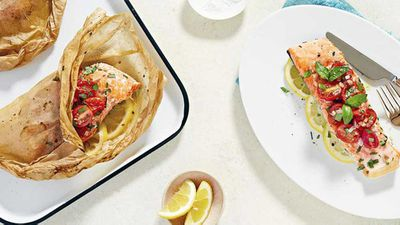 "<a href=""http://kitchen.nine.com.au/2016/08/25/15/12/native-lemon-herb-salmon-en-papillote"" target=""_top"">Dan Churchill's lemon herb salmon parcels</a> recipe"