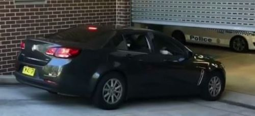 Aysha Learmonth was quietly whisked into Burwood Local Court in Sydney by a police car. (9NEWS)