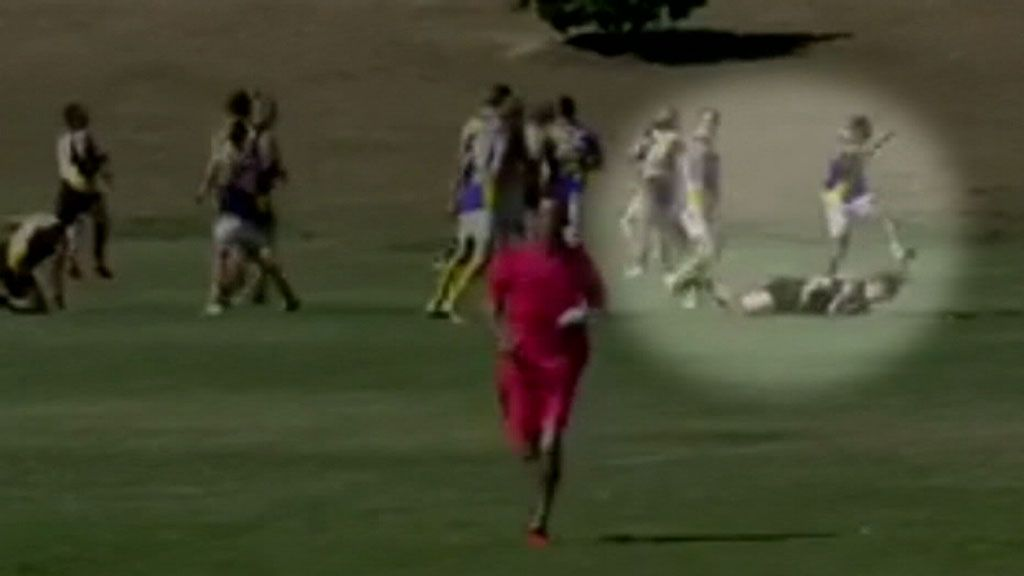 Ipswich AFL player given 20-year ban for kicking opponent in the head