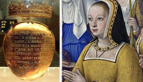 Queen's heart stolen from French museum