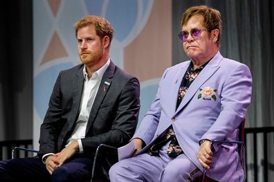 Elton John defends Prince Harry and Meghan Markle for using private jet