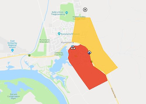 An evacuation centre is in place at the Kununurra Leisure centre.