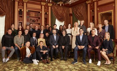 Roberts joined other A-listers including Orlando Bloom and Cara Delevingne who were both out to celebrate their new series, also created with Amazon Studios, 'Carnival Row'.