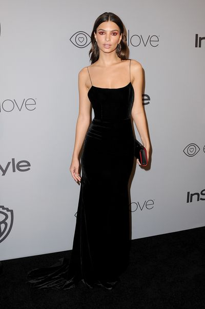 """Australian designer and eternal sunglasses aficionado, <a href=""""https://www.alexperry.com.au/"""" target=""""_blank"""" draggable=""""false"""">Alex Perry, </a>was the ruler of the red carpet at the Golden Globes official after party last night.<br> <br> At the event hosted by <em>InStyle</em>, model Emily Ratajkowski, Victoria's Secret angel Taylor Hill and actress Kate Beckinsale were clad head-to-toe in all black courtesy of the Sydney-based designer.<br> <br> Known for his form-fitting designs, Perry made sure all three ladies were sartorial stand-outs in three different figure-hugging looks from his namesake label. <br> <br> Hill and Ratajowski both opted for velvet gowns from his Pre-Fall collection and Beckinsale turned to a sleek gown with statement sleeves from Resort 2018.<br> <br> The 54-year-old designer is no stranger to dressing the A-list and has outfitted the likes of HRH Crown Princess Mary, Miranda Kerr, Jennifer Lopez, Kim Kardashian and Gigi Hadid in the past.<br> <br> Fashion took a backseat at <a href=""""https://style.nine.com.au/2018/01/08/09/34/golden-globes-2018-red-carpet"""" target=""""_blank"""" draggable=""""false"""">this year's Golden Globes</a> where celebrities made a stance against the treatment of women in the industry by donning black gowns on the red-carpet to raise awareness for the Time's Up initiative. <br> <br> Click through to see all the style wins from this year's Golden Globes after party."""