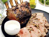 Roast beef rib with fresh horseradish sauce