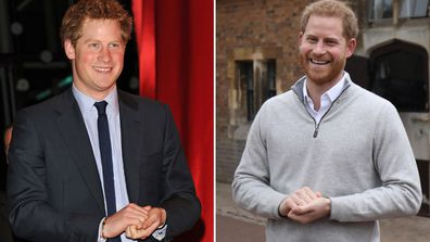 Prince Harry is the royal who has changed the most in the past decade 2010 (left) and 2019 (right)