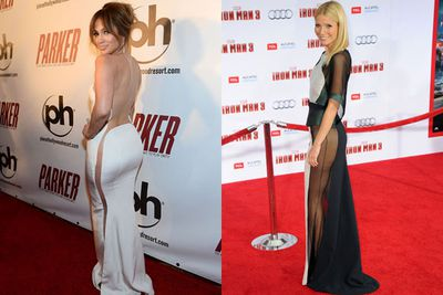 <i>noun</i><br/>A completely impractical fashion trend in which a high-end dress has no sides, or see-through fabric. This gives the illusion of wearing no underwear. Some very game celebs pull off the look panty-free, while others wear skin-coloured G-strings. Guaranteed headlines across all showbiz websites. Famous proponents: Jennifer Lopez, Gwyneth Paltrow, Miley Cyrus.<br/><br/>Images: Getty