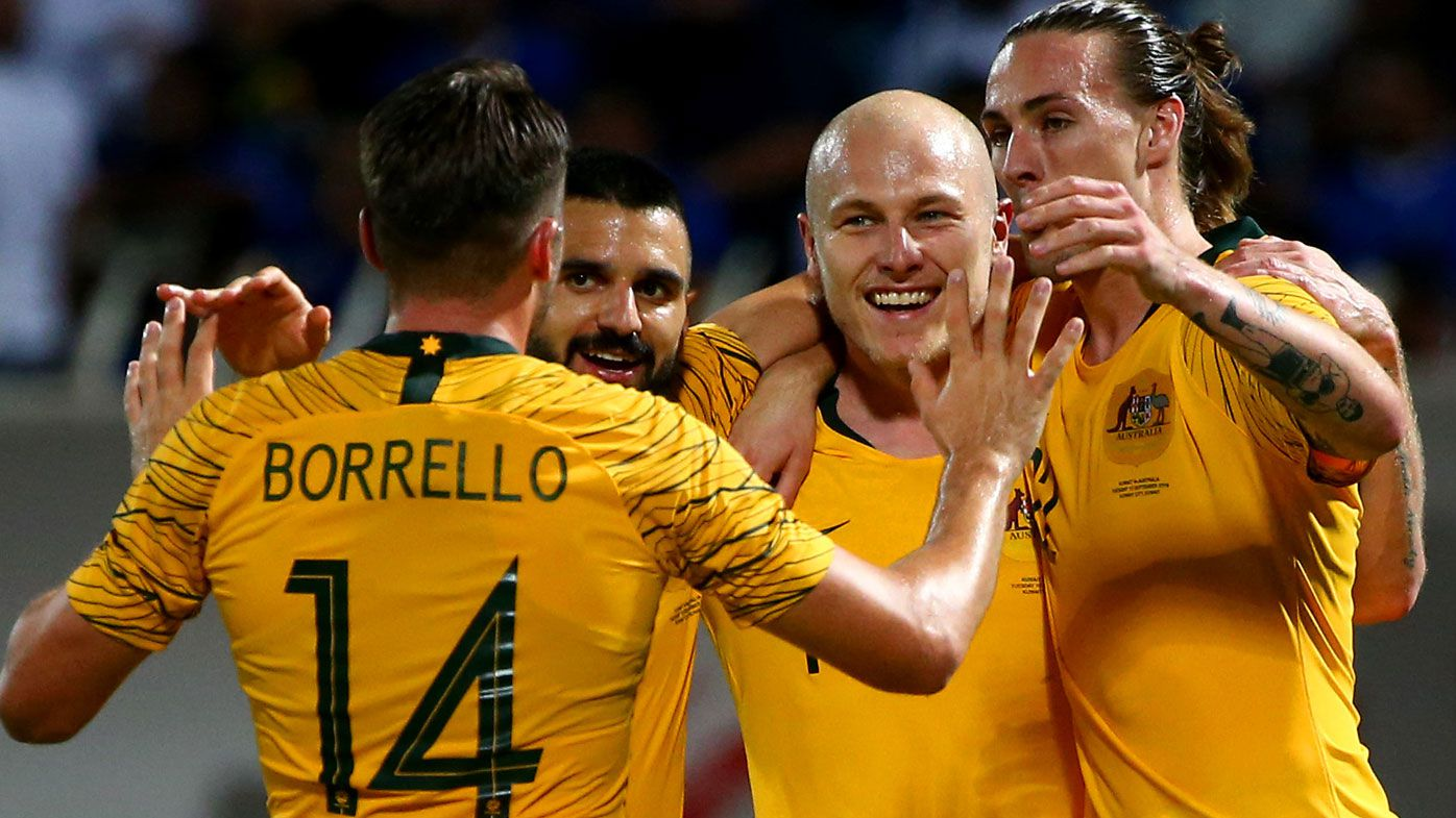 Socceroos blitz Kuwait in World Cup qualifier: Leckie brace, Mooy stunner