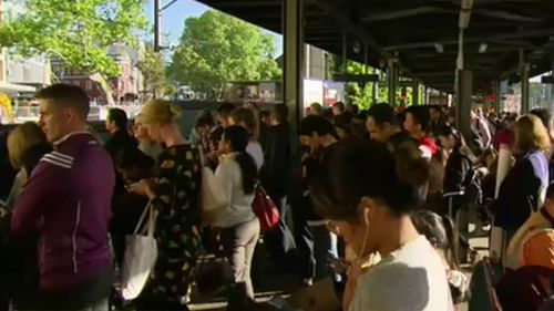 Frustrated commuters were delayed after mass train cancellations in Sydney.