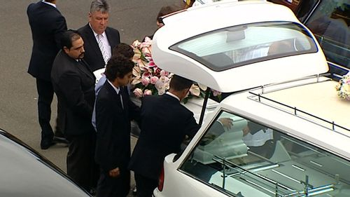 The family members were farewelled as Jessica Falkholt clings to life in hospital. (9NEWS)