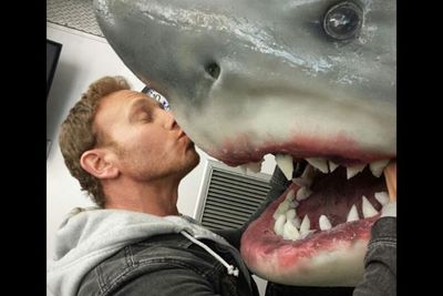 """Ian Ziering: """"#Sharknado Make love not war.... Can't we all just get along?""""<br/><br/>(Image: Who Say)"""