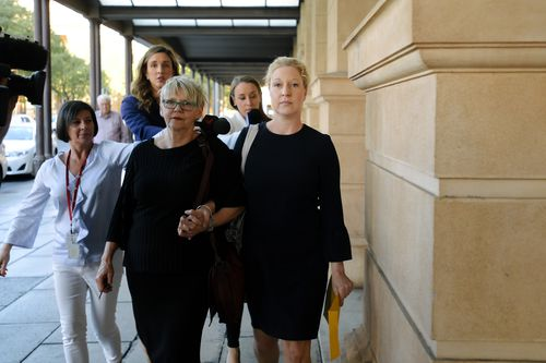 Bettina Schmoock (right) has avoided jail for grooming a student in 2014 and 2015. (AAP)
