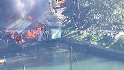 Fire crews contain blaze which gutted Sydney boat shed