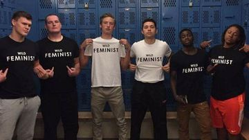 Male athletes at US high school set the record straight on 'locker room talk' in viral photo