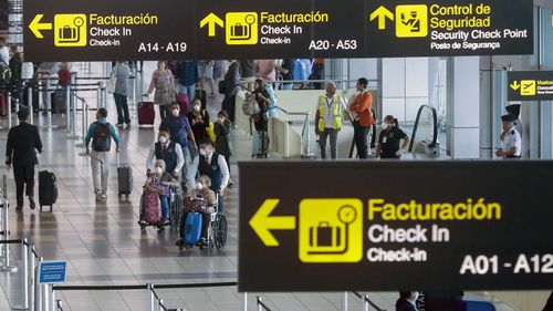 Airports around the world are seeing a dramatically reduced intake of visitors.