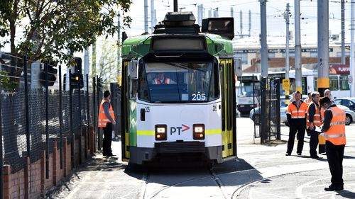 The woman was allegedly raped after being assaulted on a Collins Street tram. (AAP file image)