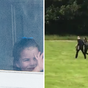 Adorable footage of George, Charlotte and Louis welcoming their parents home