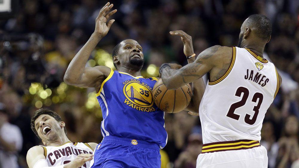 Warriors get past Cavs again in NBA Finals