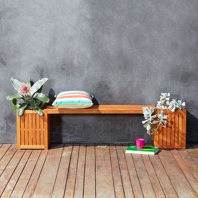 """Oasis bench seat with planter boxes, $45 <a href=""""http://www.kmart.com.au/product/oasis-bench-seat-with-planter-boxes/702875"""" target=""""_blank"""">Kmart</a>"""