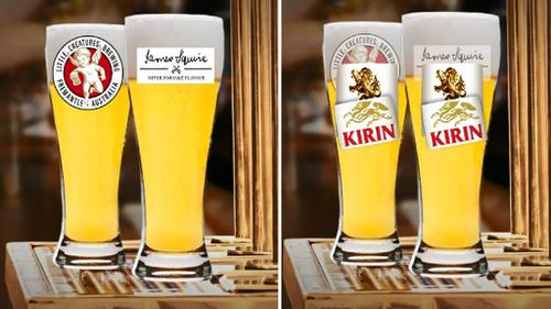 Little Creatures and James Squire are both owned by Lion, which is owned by Japanese giant Kirin. (9NEWS)
