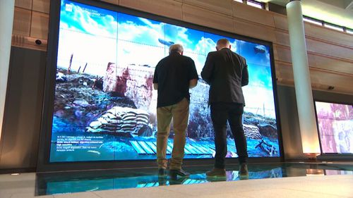 A harrowing eight-minute 'immersive experience' is a highlight of the centre. Picture: 9News