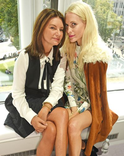 Natalie Massenet  and Poppy Delevingne.