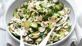 Lemon and herb mushroom salad recipe