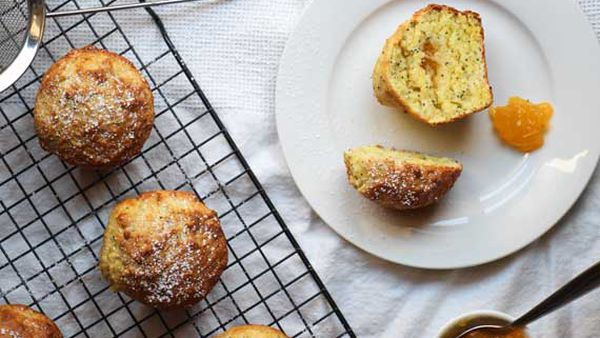 Liliana Battle's poppy seed muffins with lemon curd