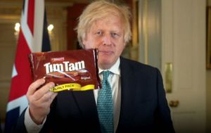 Boris Johnson hails Tim Tam biscuits ahead of trade talks with Australia