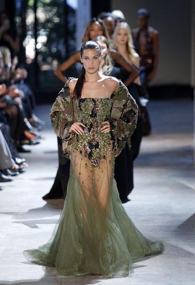 <p>Green with envy</p> <p>Alexandre Vauthier, haute couture autumn/winter, '16/'17, Paris Fashion Week</p>