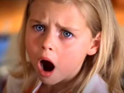 The young actress appeared in the 2005 ad for the The Natural Confectionary Co.