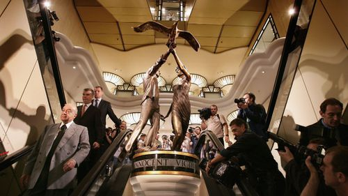The statue is housed in London's Harrods department store. (Getty Images)