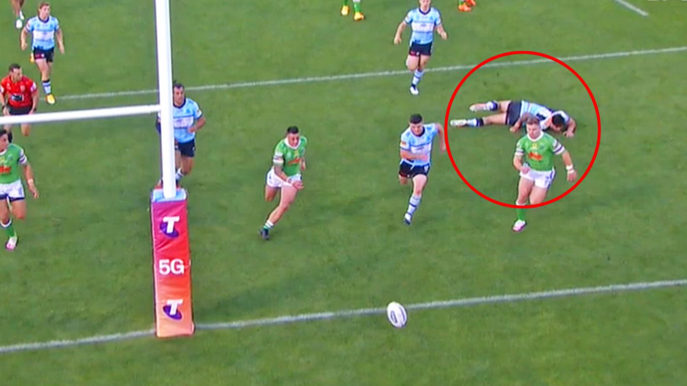Bateman takes out a Sharks player
