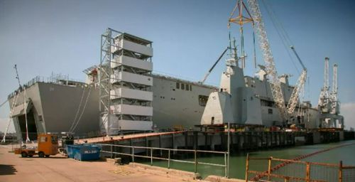 BAE Systems will pair up with Australian ASC Shipbuilding for the construction, with the frigates to be ready by 2020. Picture: 9NEWS.