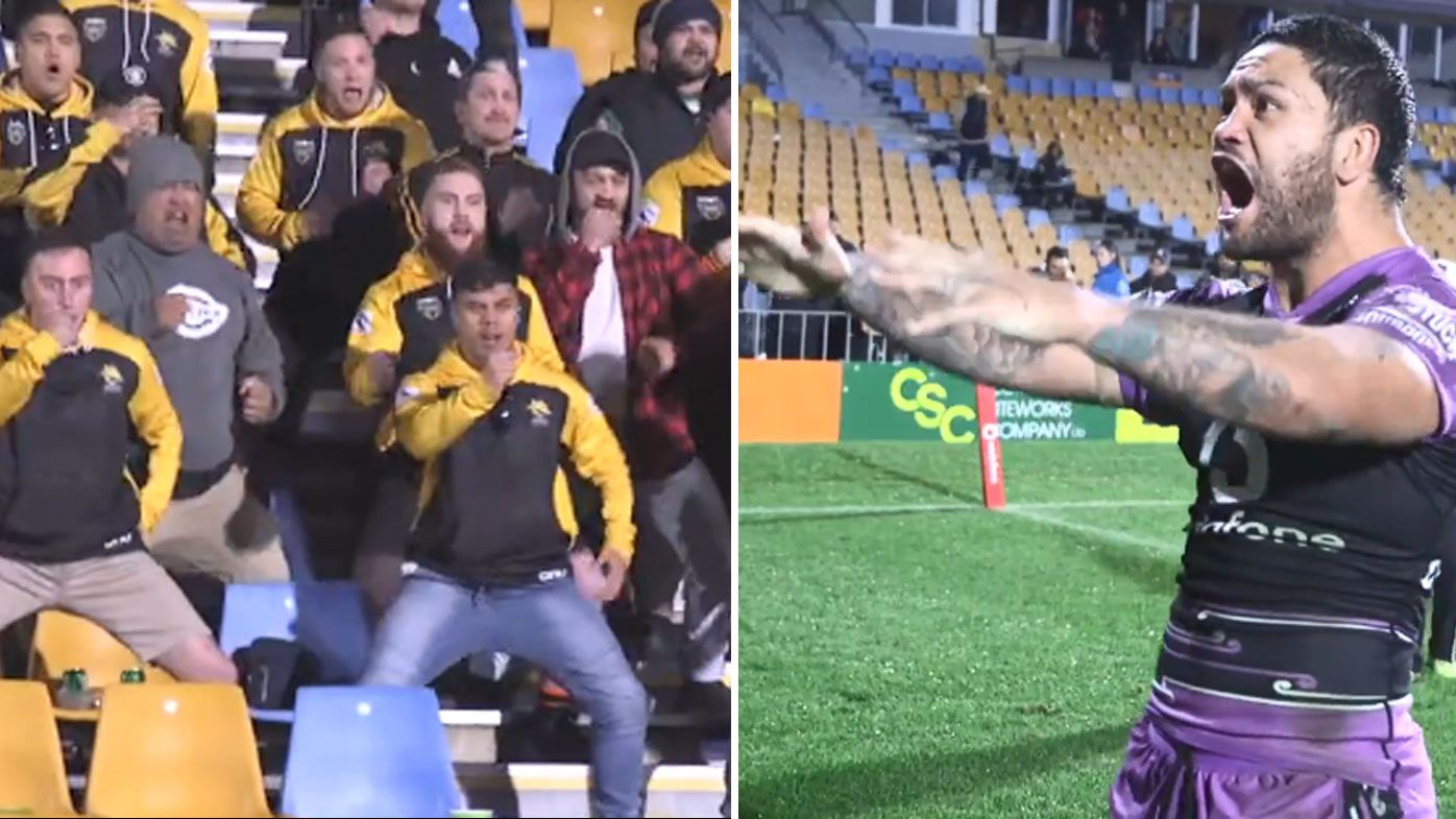 NZ Warriors fans honour Issac Luke with haka after 250th NRL game
