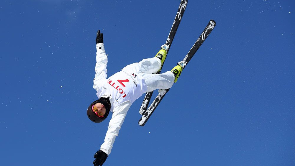 Lydia Lassila wins her third World Cup gold. (Getty)