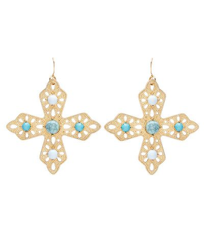 "<p><a href=""https://www.sportsgirl.com.au/accessories/earrings/turquoise-cross-earrings-gold-all"" target=""_blank"" draggable=""false"">Sportsgirl Turquoise Cross Earrings, $19.95</a></p>"
