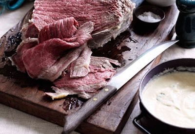 Dinner: Corned beef with Soubise sauce