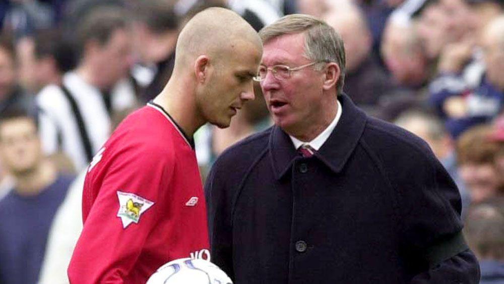 David Beckham and Sir Alex Ferguson on 2001. (AAP)