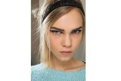 <p>Embrace a headband, as seen on Fendi's Fall 2015 runway. It'll keep flyaways at bay and hide any frizz.</p>
