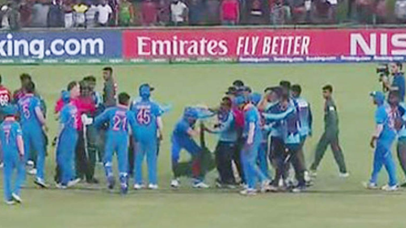 Five players banned after ICC brawl