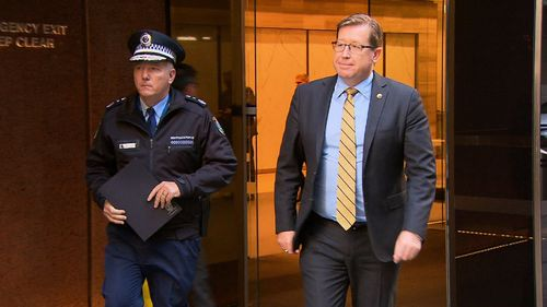 NSW Police Minister Troy Grant met with the NSW Police Commissioner today to discuss possible changes to the state's gun laws. Picture: 9NEWS