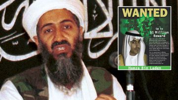 Osama Bin Laden and his son Hamza.