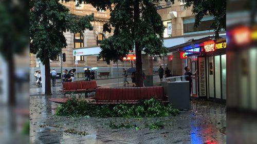 Brisbane's CBD was also affected. (Twitter / @StaceyWordsworth)