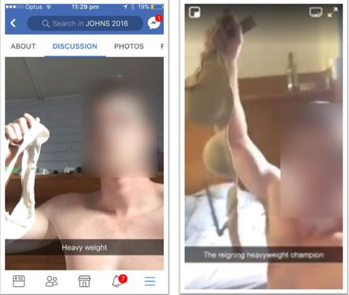 Photos published during The Purge of men engaging in Heavy Weight challenge. (Facebook/The Red Zone)