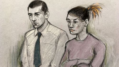 A court sketch of Stephen Waterson, left, and Adrian Hoare who are facing manslaughter charges at the Old Bailey in London.