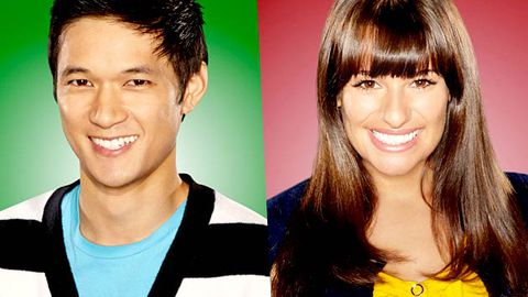 Glee stars strip off
