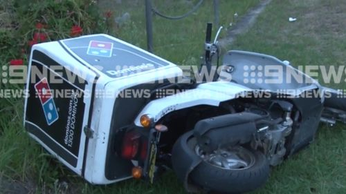 The Domino's scooter, equipped with tracking technology, was recovered after the teen's arrest. (9NEWS